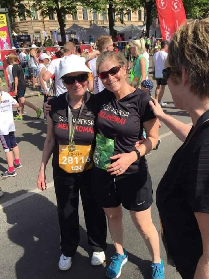 Keisija Kinga ar mammu Rīgas maratonā 2. Melanomas pacientu atbalsta centrs